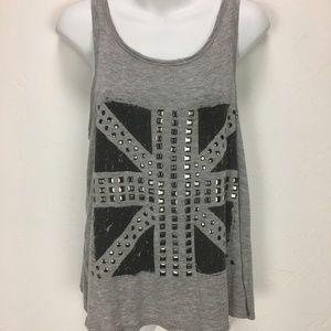 Anthropologie Paper Crane  Studded Tank Size Small